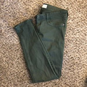 Abercrombie & Fitch forest green skinny jeans
